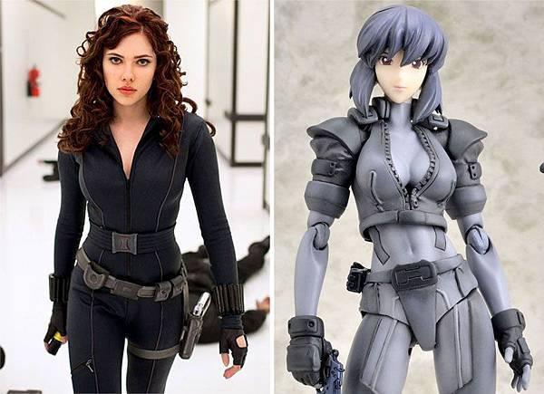 圖一Scarlett Johanson versus original comic character