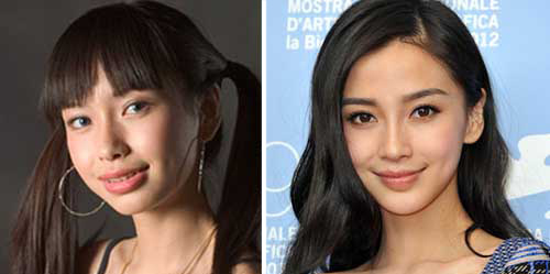 Angelababy-before and after