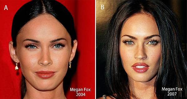 Megan Fox 2004 versus 2007