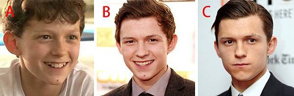 圖十Tom Holland transformation smile and no smile