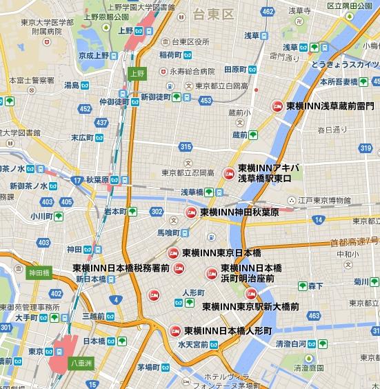東橫INN分布