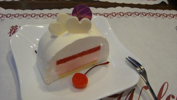 荔枝草莓慕斯