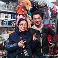 中央市場二樓,巧遇台灣友人。