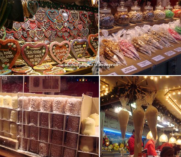 各種樣式的糖果