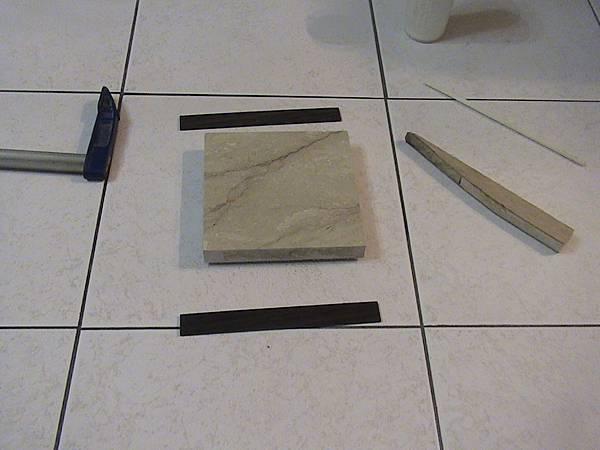 大理石混搭黑檀邊飾桌墊