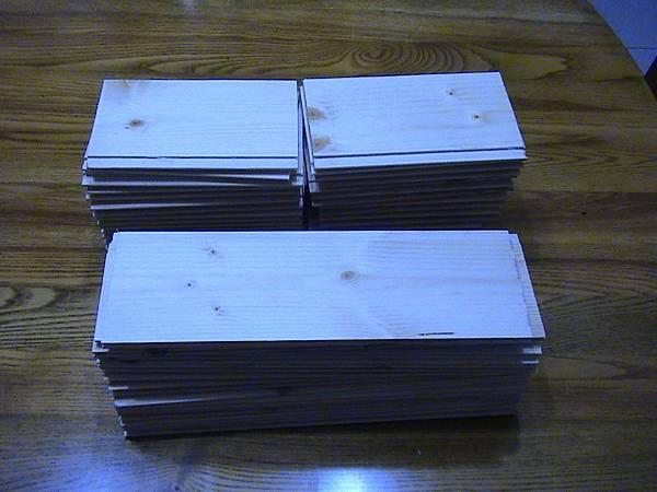 白松木盒子