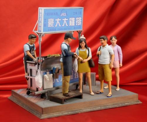 士林夜市雞排攤模型-3