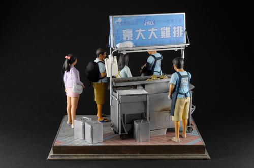 士林夜市雞排攤模型-2