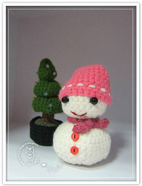 雪人與聖誕樹
