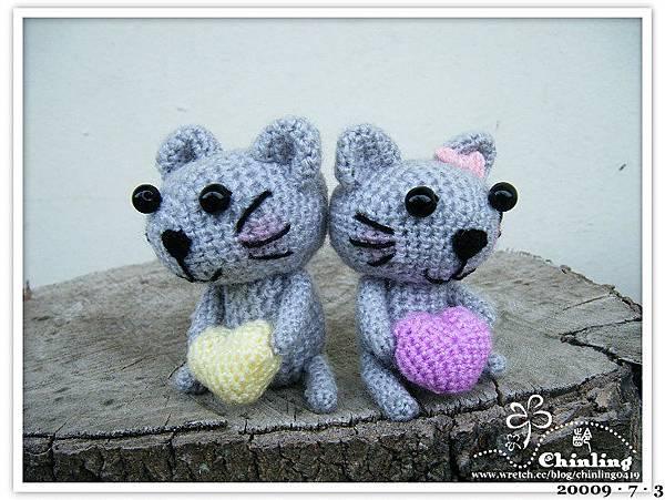 灰色貓咪情侶