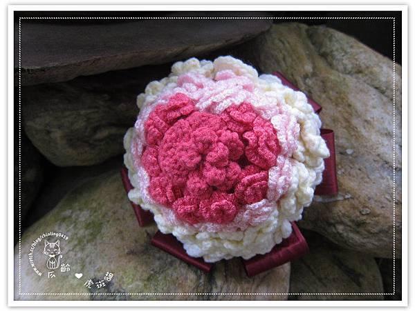 毛線玫瑰捧花