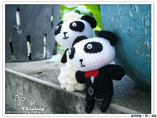熊貓.婚禮娃娃