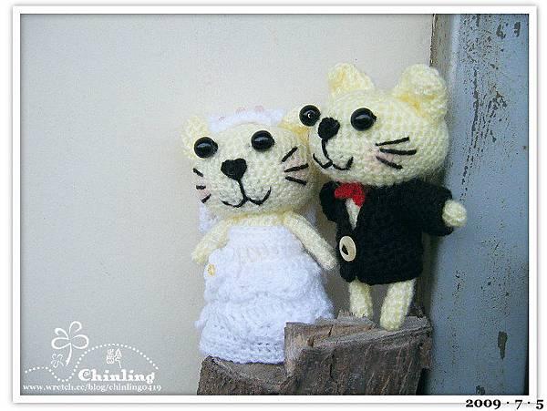 貓咪.婚禮娃娃