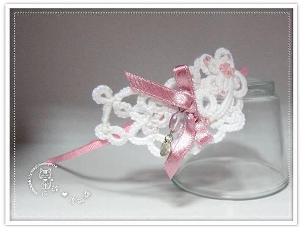 【髮箍】浪漫白色蕾絲編織
