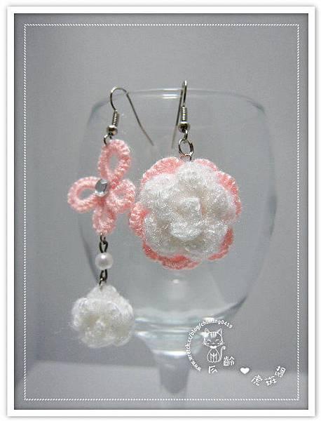 【耳環】不對稱花蝶戀浪漫系列
