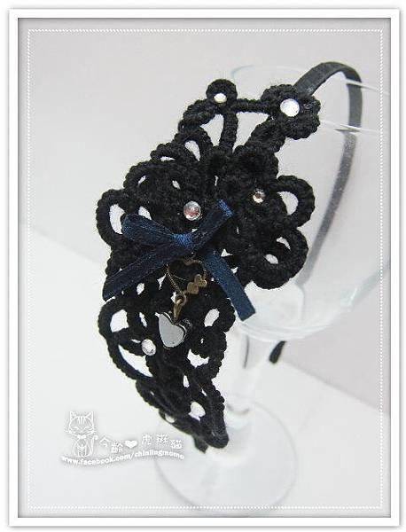 【髮箍】黑色神秘浪漫蕾絲編織
