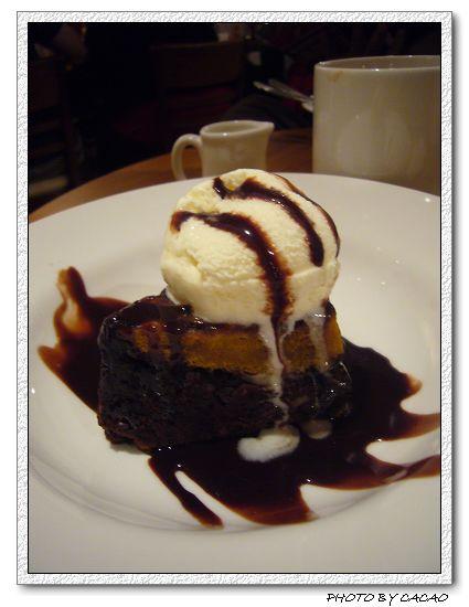 南瓜巧克力布朗尼加冰淇淋