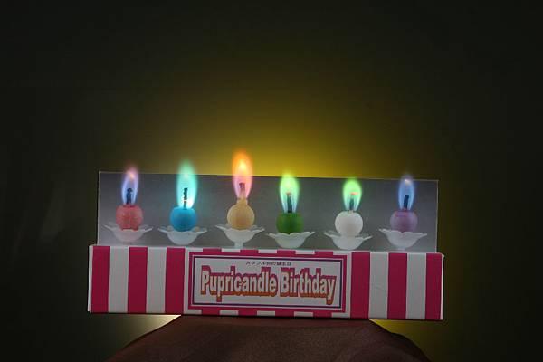 5隻蠟燭都點燃了