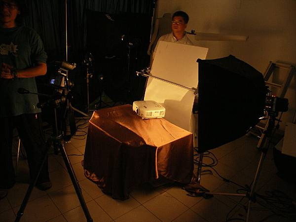 拍攝投影機時的攝影布置環境