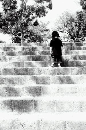 孩子的背影