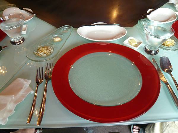 桌上的擺盤