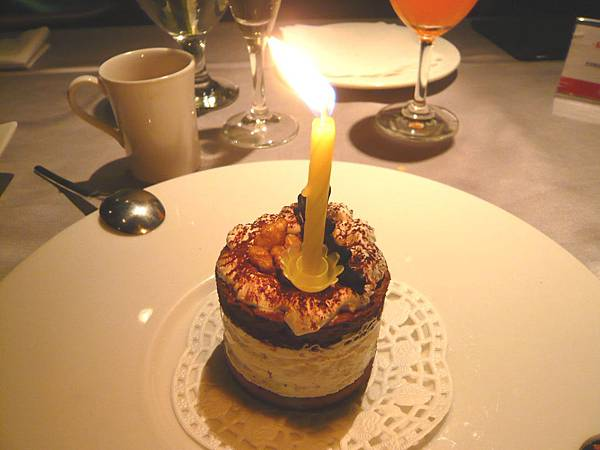 招待的壽星生日蛋糕
