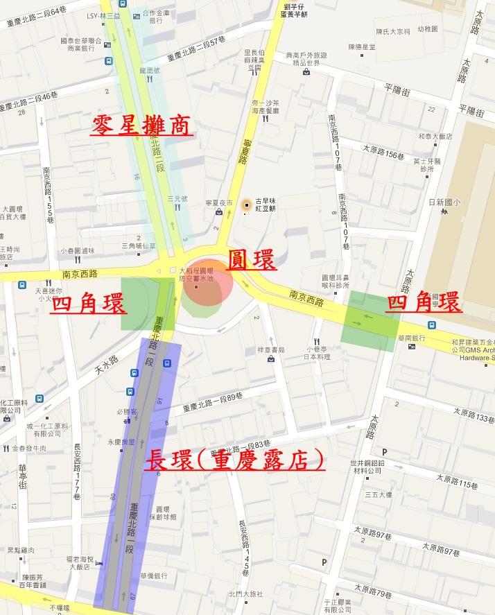 圓環地圖標示