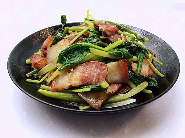 20181006-鹹豬肉炒芥藍