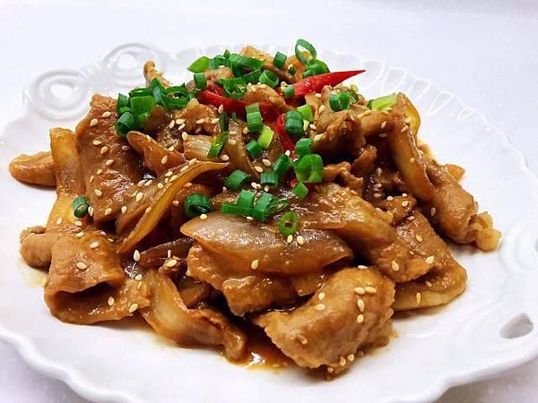 20181128-洋蔥味噌炒肉片
