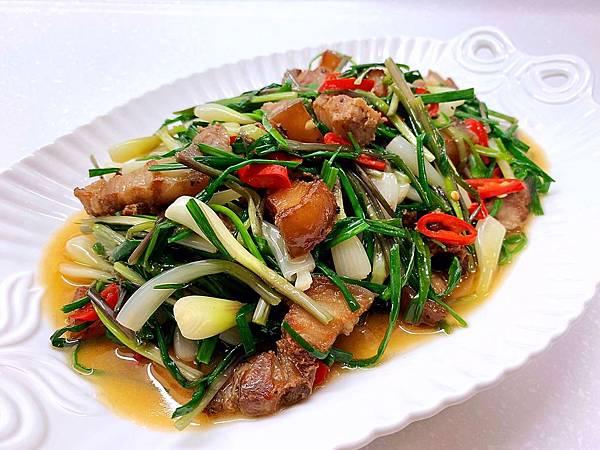 蕗蕎炒鹹豬肉-2