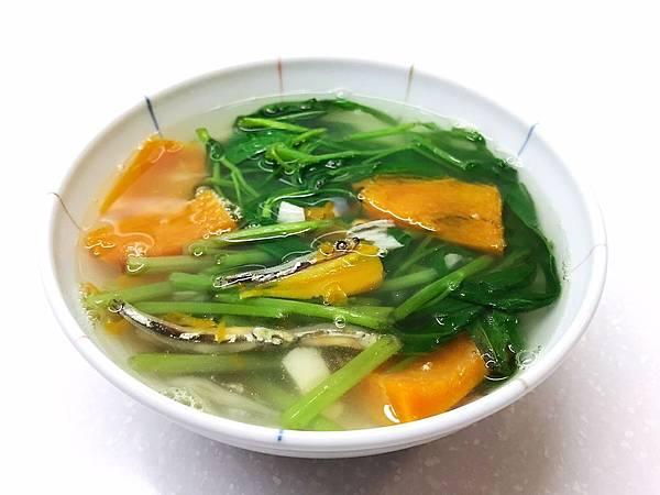 蕹菜湯(小魚乾空心菜湯 )-1.jpg