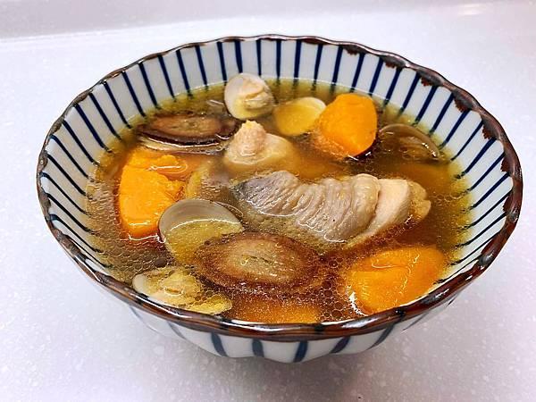 牛蒡南瓜蛤蜊雞湯-1