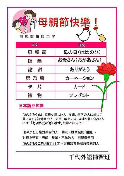 五月日文單字片語