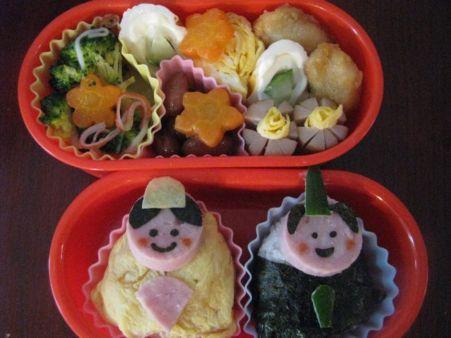 日本女兒節造型便當