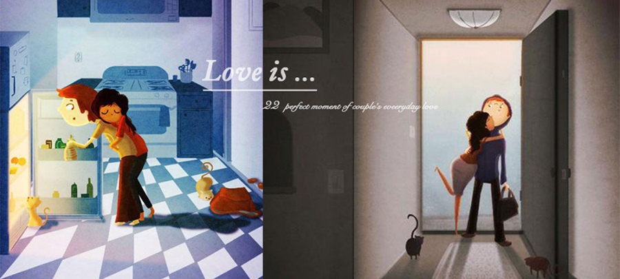 Everyday Love:畫家筆下 伴侶之間22個「很平凡但最暖心」的幸福瞬間