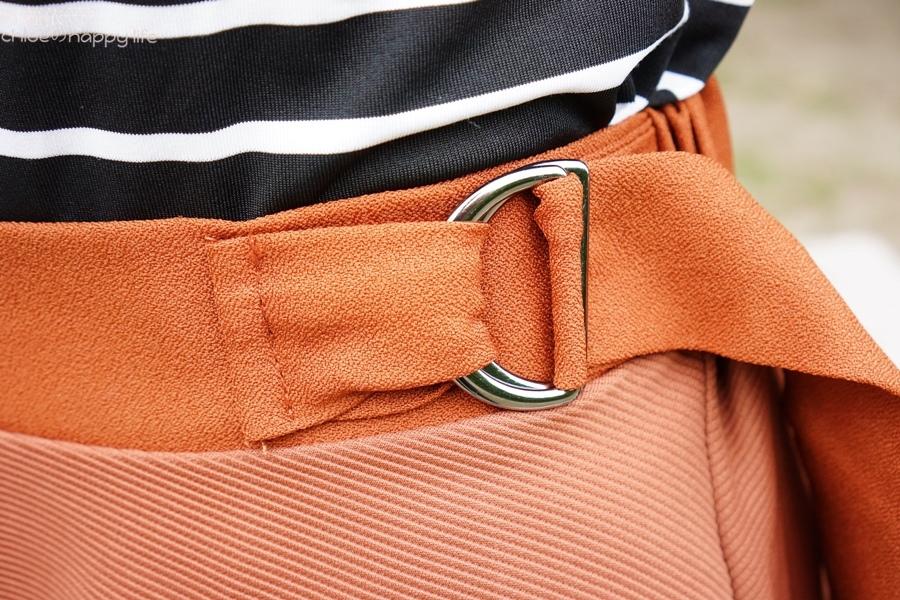 日本樂天購物osharewalker日系裙子秋天土色不規則裙穿搭20.JPG
