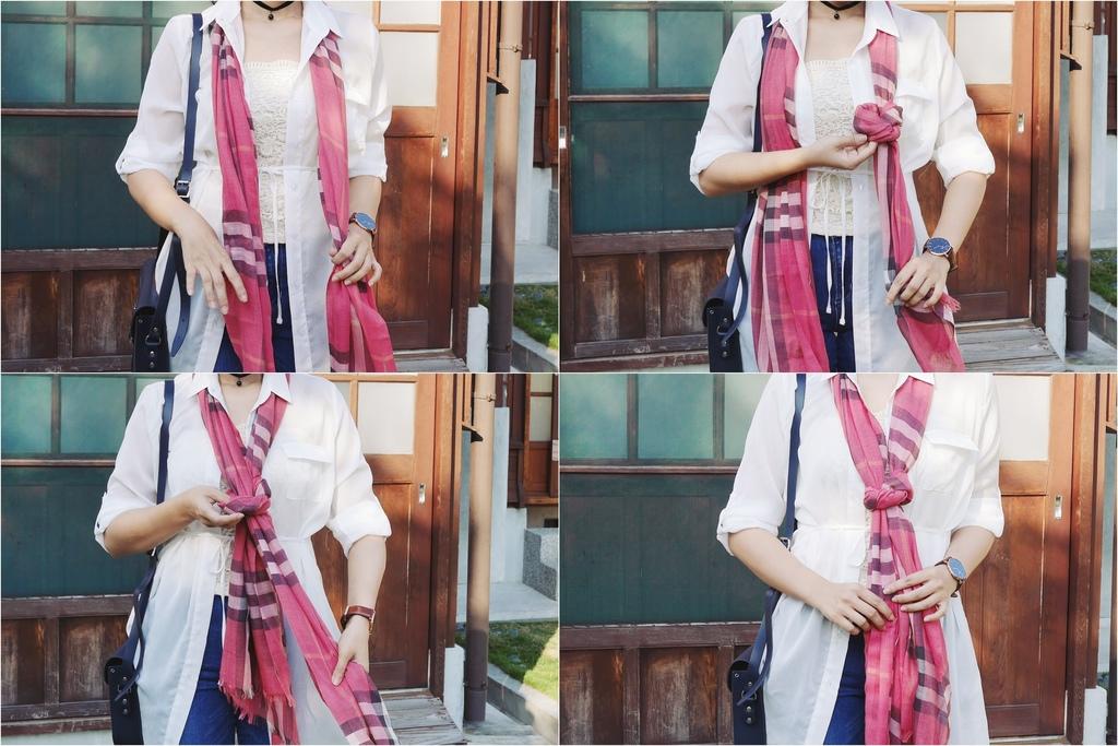 burberry輕盈格紋羊毛絲綢圍巾 四種綁法穿搭分享13.jpg