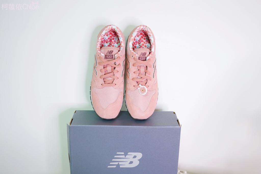 微甜輕運動時尚穿搭 New Balance 520 復古運動鞋 女鞋 粉紅 WL520AA_1.JPG