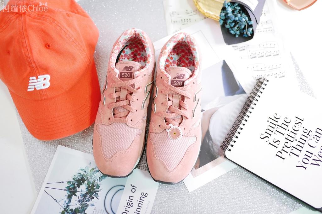 微甜輕運動時尚穿搭 New Balance 520 復古運動鞋 女鞋 粉紅 WL520AA_5.JPG