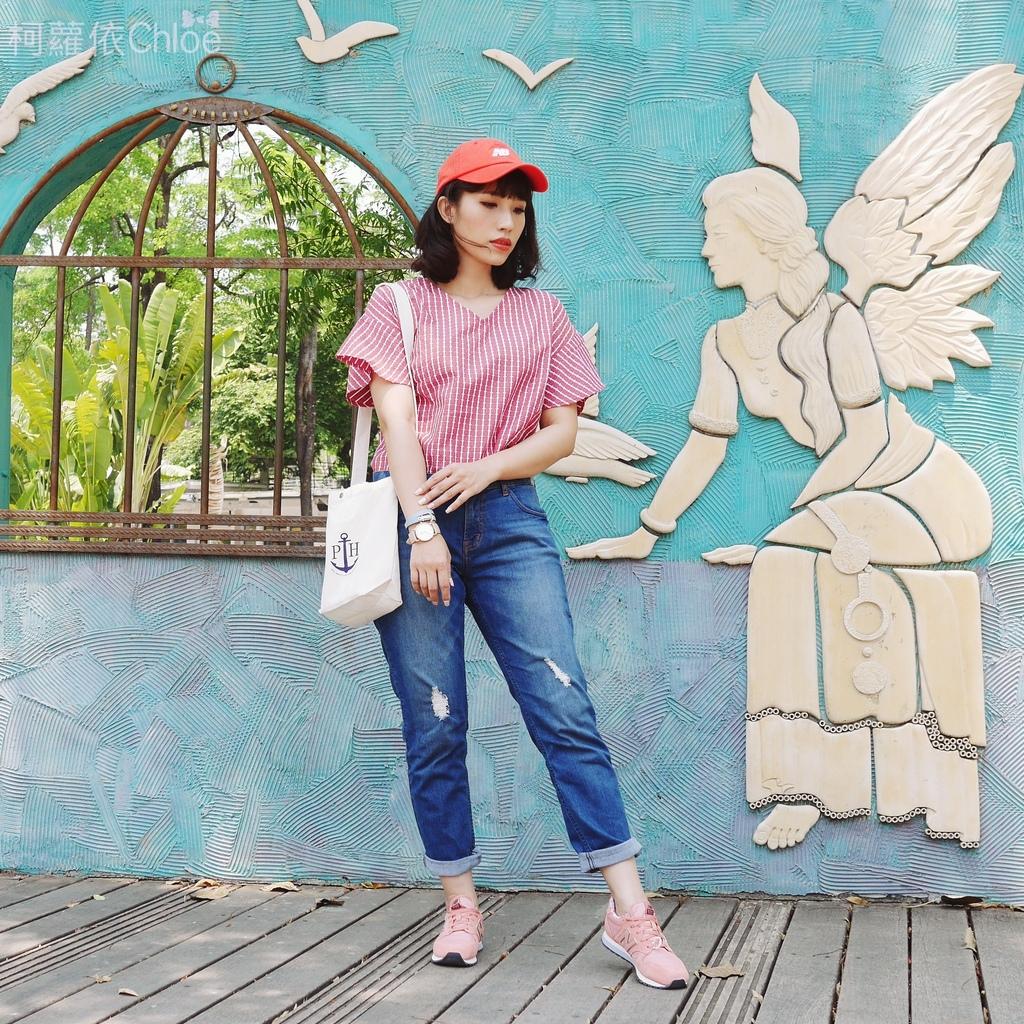 微甜輕運動時尚穿搭 New Balance 520 復古運動鞋 女鞋 粉紅 WL520AA_6.JPG