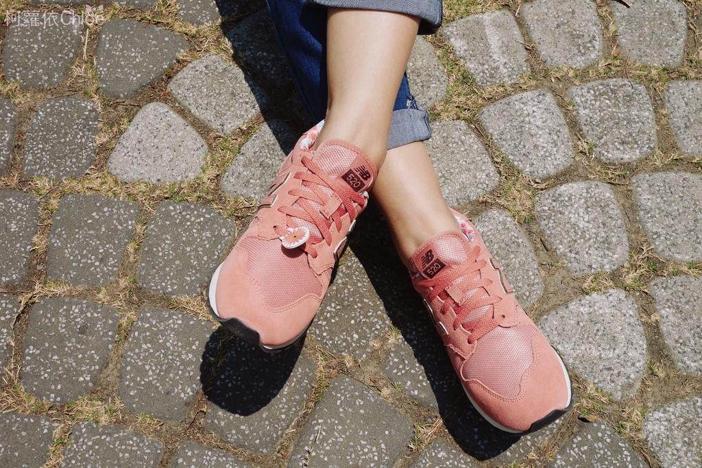 微甜輕運動時尚穿搭 New Balance 520 復古運動鞋 女鞋 粉紅 WL520AA_10.JPG
