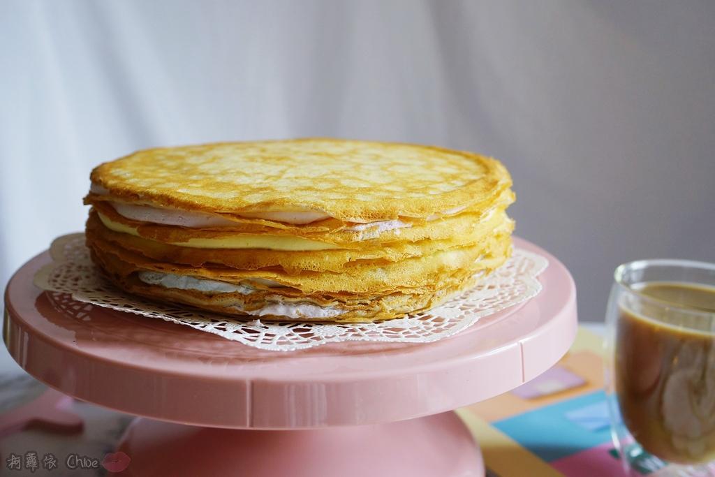 網購千層蛋糕推薦   粉嫩甜蜜不膩口!塔吉特蜂蜜彩虹千層7.JPG