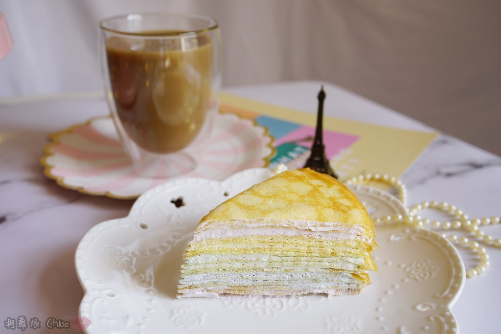 網購千層蛋糕推薦   粉嫩甜蜜不膩口!塔吉特蜂蜜彩虹千層13.JPG