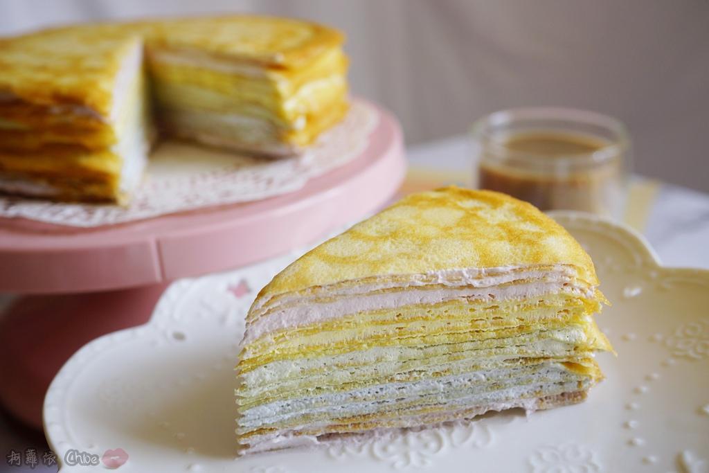 網購千層蛋糕推薦   粉嫩甜蜜不膩口!塔吉特蜂蜜彩虹千層20.JPG