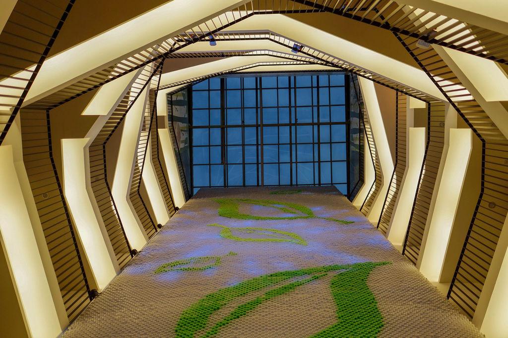 台中草悟道住宿 綠宿行旅Green Hotel 環保旅店榮獲三星級 LED心之光牆放煙火親子互動更有趣14A.jpg