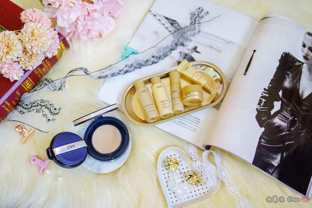 韓劇歐膩般的光潤肌 IOPE艾諾碧 完美恆采持色氣墊粉底 時光金鑰緻顏全套體驗組1.jpg