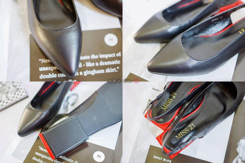 LOOKBOOK 個性女孩穿搭首選 MISS 21 獨特創意方形夾心尖頭全真皮低跟鞋 開箱%26;穿搭分享7.jpg