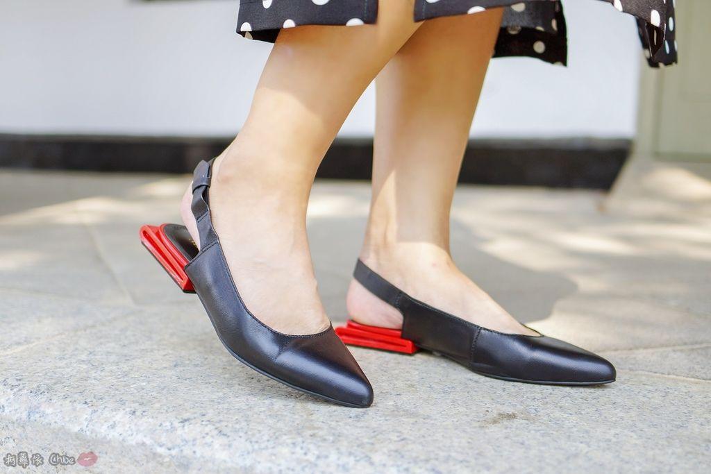 LOOKBOOK 個性女孩穿搭首選 MISS 21 獨特創意方形夾心尖頭全真皮低跟鞋 開箱%26;穿搭分享10.jpg