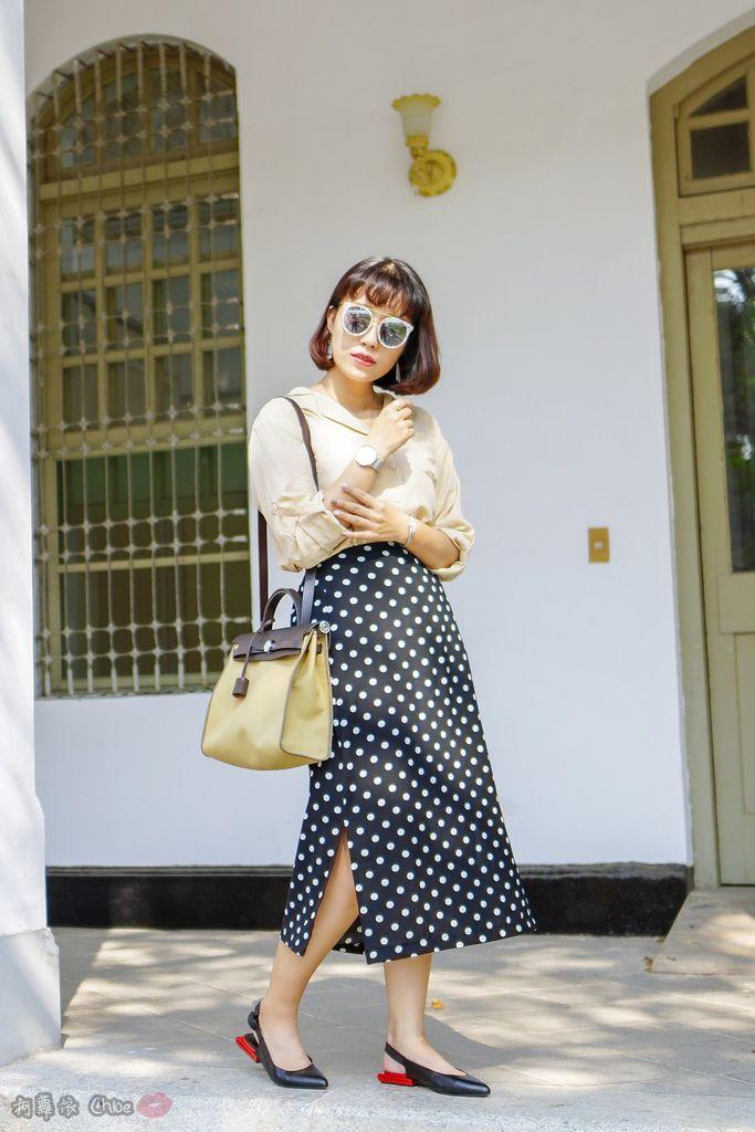 LOOKBOOK 個性女孩穿搭首選 MISS 21 獨特創意方形夾心尖頭全真皮低跟鞋 開箱%26;穿搭分享11.jpg