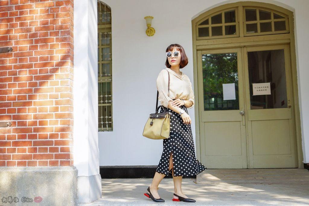 LOOKBOOK 個性女孩穿搭首選 MISS 21 獨特創意方形夾心尖頭全真皮低跟鞋 開箱%26;穿搭分享9.jpg